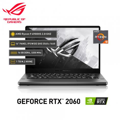 "ASUS ROG Zephyrus G14 , AMD Ryzen 9 4900HS 3.0GHz, GeForce RTX™ 2060,16GB DDR4, 14"" IPS QHD"
