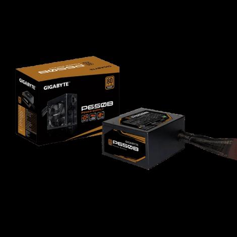 Fuente de alimentación Gigabyte P650B, 650W, ATX, 80 Plus Bronze, 100V ~ 240VAC.