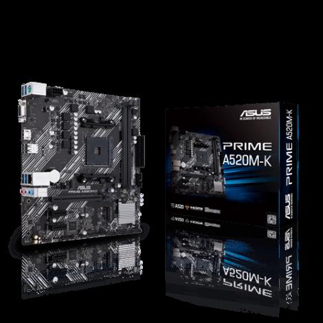 Motherboard ASUS A520M-K, AM4, con soporte M.2, USB 3.2 Gen 1 Tipo A