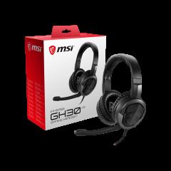 Auriculares Gaming MSI Inmerse GH30 V2, estéreo, micrófono, 3.5 mm, Negro / Rojo
