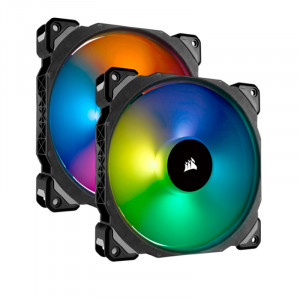 Fan Corsair Dual ML140 Pro RGB LED 14 cm, 400 - 1200 RPM, PWM Control.