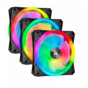 Fan Corsair Triple QL120 RGB, 12cm, 525 - 1500 ±10% RPM, PWM Control.