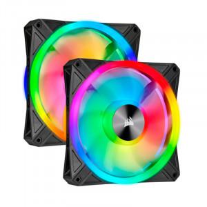Fan Corsair Dual QL140 RGB, 14cm, 550 - 1250 ±10% RPM, PWM Control.