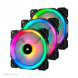 Fan Corsair Triple LL120 RGB, 12 cm, 1500 RPM, 4 pines, PWM Control.