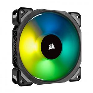 Fan Corsair ML140 Pro RGB Led, 14 cm, 1200 RPM, 4 pines, PWM Control.