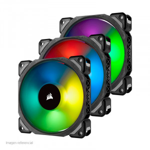 Fan Corsair ML120 Pro RGB Led, 12 cm, 1600 RPM, 4 pines, PWM Control.