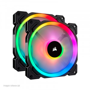 Fan Corsair LL140 RGB, 14 cm, 1300 RPM, 4 pines, PWM Control.