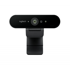 Cámara web Logitech Brio, hasta 4K HD, HDR, microfono, zoom digital 5x, USB 3.0.