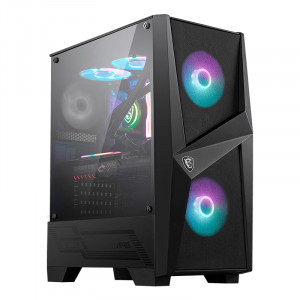 Case MSI MAG FORGE 100R ARB, Mid Tower, ATX, Negro, USB 3.0