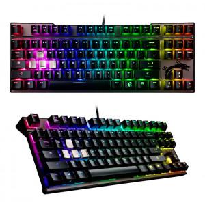 Teclado Gamer MSI Vigor GK70 RED, mecánico, Multimedia, USB, retroiluminado.