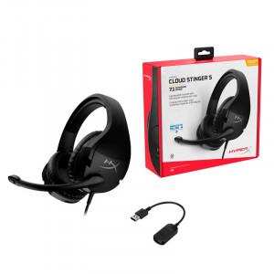 Auriculares HyperX Cloud Stinger S Headset + 7.1, Micrófono, 3.5mm