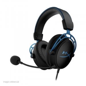 Auriculares HyperX Cloud Alpha S 7.1, micrófono, conector 3.5mm, USB, Negro / Azul.