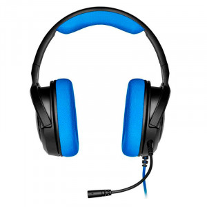 Auriculares Corsair HS35 estéreo, micrófono, 3.5mm, Negro / Azul