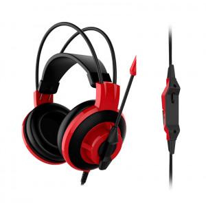 Auriculares Gaming MSI Inmerse DS501, estéreo, micrófono, 3.5 mm, Negro / Rojo