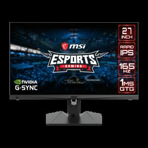 "Monitor MSI Optix MAG274QRF 27""/ IPS PANEL/ 2560 x 1440 WQHD/ 165 Hz/ Compatible NVIDIA® G-SYNC®"
