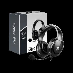 Auriculares MSI IMMERSE GH20, con micrófono ajustable, conector 3.5mm