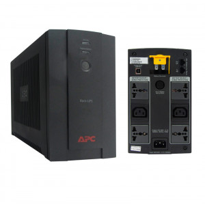 UPS APC BX1400U-MS, 1400VA, 700W, interactivo, 220V, AVR, 2 tomas C13, 4 tomas universales