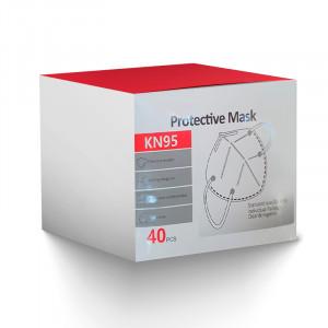 Mascarilla Protectora KN95, Caja x 40 unidades - Color Blanco