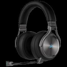 Auriculares Corsair Virtuoso Wireless SE GUNMETAL, micrófono, Receptor USB, RGB