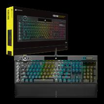 Teclado Gaming Corsair K100 RGB, Cherry MX Silent, Black