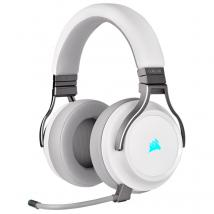 Auriculares Corsair Virtuoso Wireless White, micrófono, Receptor USB, RGB