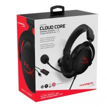 Auriculares HyperX Cloud Core 7.1, micrófono, conector 3.5mm, Black